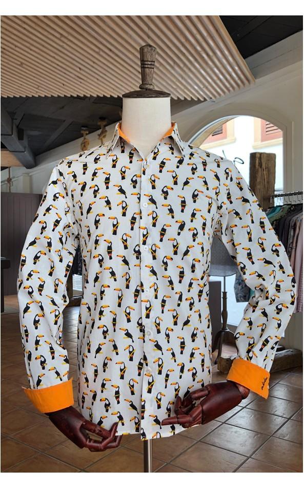Camisa de hombre estampado tucán | ABH Collection JÁVEA