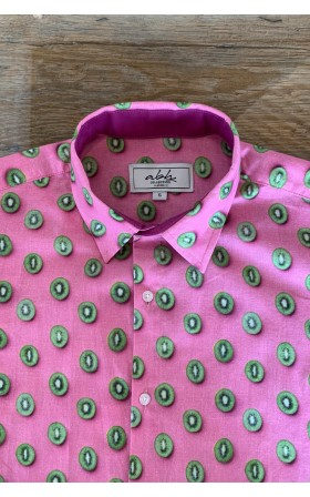 ABH Collection JÁVEA Kiwi pattern men's shirt