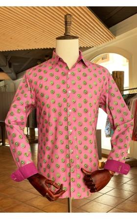 ABH Collection JÁVEA Camisa de hombre estampada kiwi