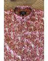 Chemise homme ocre rouge imprimés cachemire | ABH Collection JÁVEA