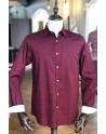 Burgundy polka dot print men's shirt | ABH Collection JÁVEA