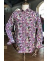 Hearts print men's purple shirt | ABH Collection JÁVEA