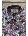 Camisa de hombre púrpura estampado corazón | ABH Collection JÁVEA