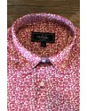 Small flowers print men's pink shirt | ABH Collection JÁVEA