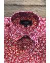 Chemise homme rouge imprimés petites fleurs | ABH Collection JÁVEA