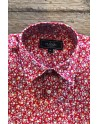 Small flowers print men's red shirt | ABH Collection JÁVEA