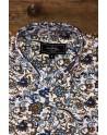 Blue lotus flower print men's shirt | ABH Collection JÁVEA