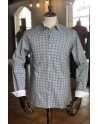 Blue diamond print men's shirt | ABH Collection JÁVEA