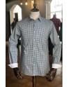 Camisa de hombre estampado diamante azul | ABH Collection JÁVEA