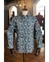 Camisa de hombre estampado cachemir azul | ABH Collection JÁVEA