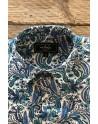 Blue cashmere print men's shirt | ABH Collection JÁVEA