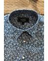 Chemise homme bleu imprimés petites fleurs | ABH Collection JÁVEA