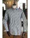 Camisa de hombre estampado arte azul   ABH Collection JÁVEA