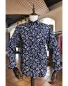 Big white flower print men's shirt | ABH Collection JÁVEA