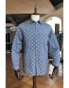Chemise homme bleue imprimés carré | ABH Collection JÁVEA