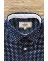White diamond print men's shirt | ABH Collection JÁVEA