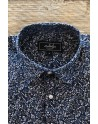 Camisa de hombre azul marino estampado rosas | ABH Collection JÁVEA