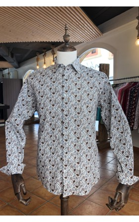 ABH Collection JÁVEA White man shirt with brown paisley