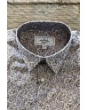 Burgundy paisley print men's shirt | ABH Collection JÁVEA