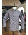 Chemise homme bordeau imprimés pailey blanc | ABH Collection JÁVEA