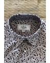 White paisley print burgundy men's shirt | ABH Collection JÁVEA