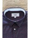 Red diamond print blue men's shirt | ABH Collection JÁVEA
