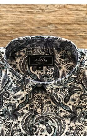 ABH Collection JÁVEA Grey men shirt printed cashmere