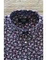 Camisa de hombre burdeos estampado flores pequeñas | ABH Collection JÁVEA
