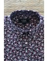 Small flowers print men's burgundy shirt | ABH Collection JÁVEA