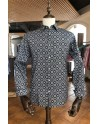 Camisa de hombre negro estampado cuadrada | ABH Collection JÁVEA