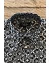 Chemise homme noir imprimés carré | ABH Collection JÁVEA