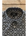 Square print men's black shirt | ABH Collection JÁVEA