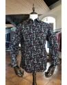 Chemise homme noir imprimés cachemire | ABH Collection JÁVEA