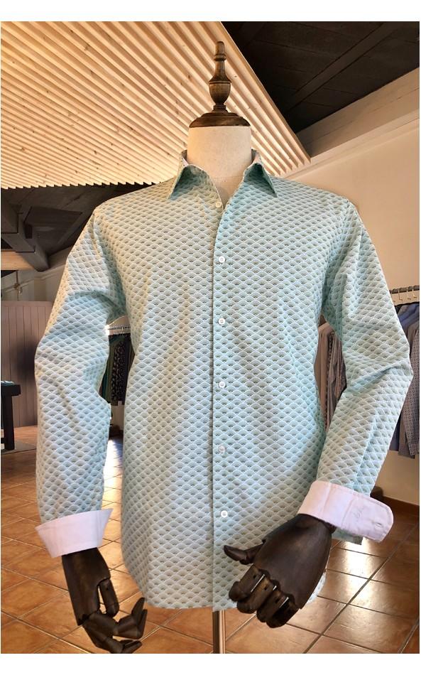 Camisa de hombre estampado abanico | ABH Collection JÁVEA