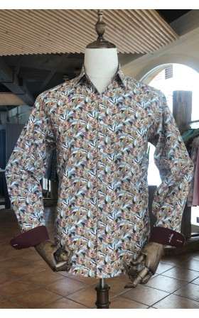 ABH Collection JÁVEA| Camouflage flower printed men's shirt
