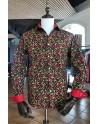 Camisa de hombre negro estampado guindilla roja | ABH Collection JÁVEA