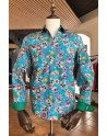 Turquoise men shirt mexican...