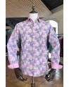 ABH Collection JÁVEA Printed man shirt pink paintball shot