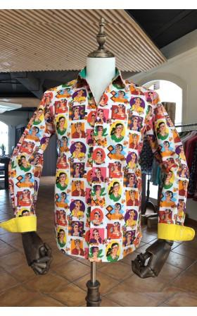ABH Collection JÁVEA Frida KAHLO printed men's shirt