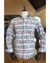ABH Collection JÁVEA Japanese kite fish printed men shirt