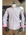 ABH Collection JÁVEA Flamingo white men's shirt