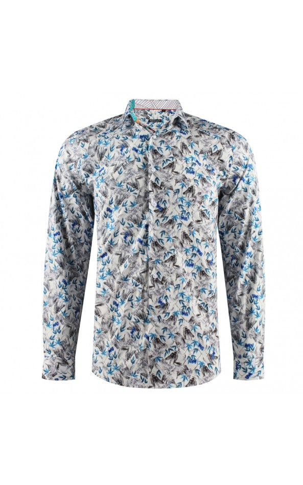 Camisa de hombre con estampado de hojas | ABH Collection JÁVEA