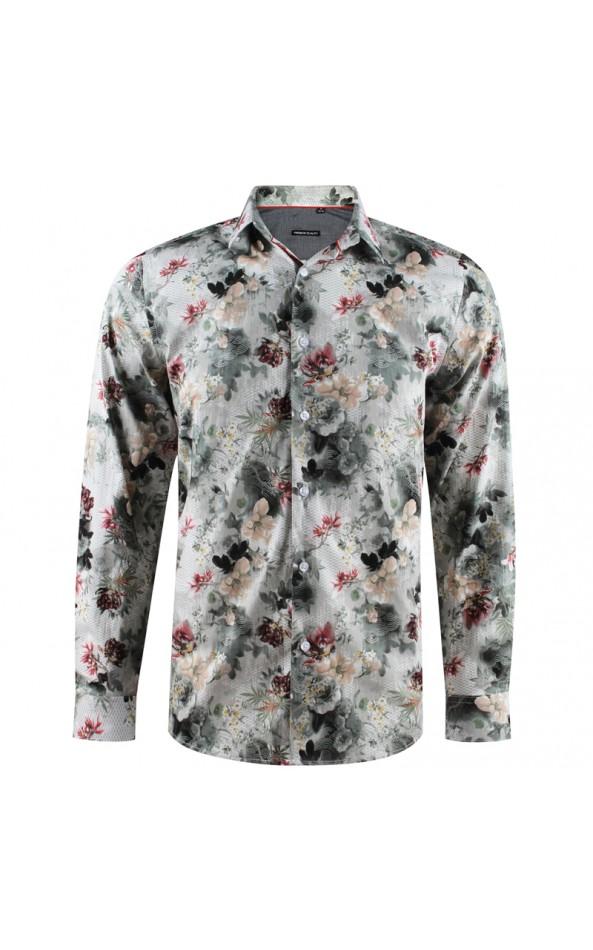 Camisa de hombre con estampado de flores grandes | ABH Collection JÁVEA