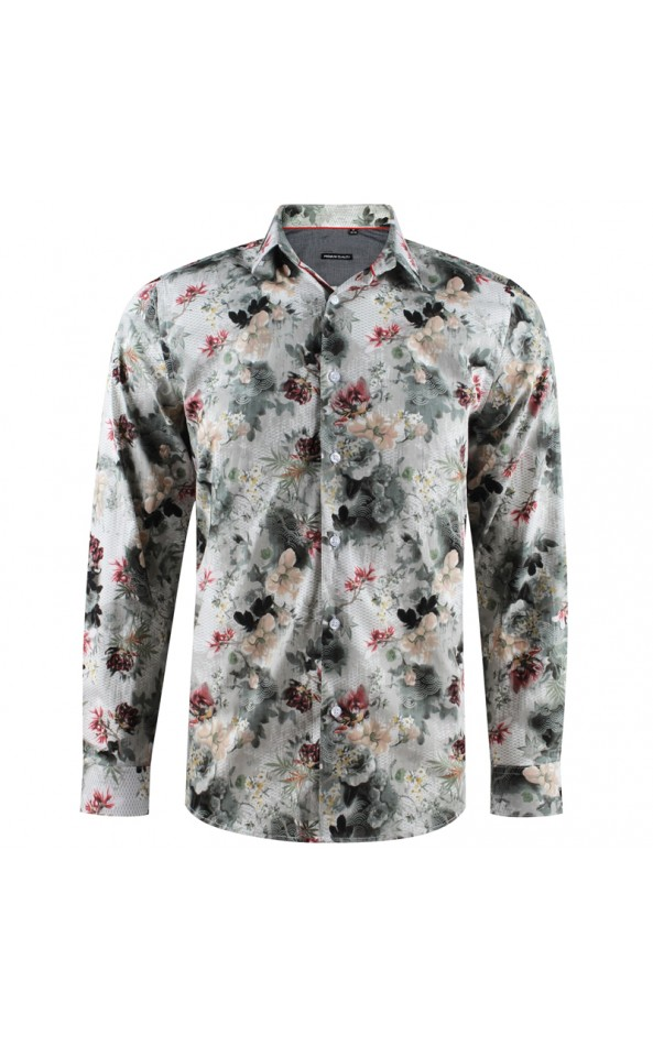 Men's shirt with large flowers print | ABH Collection JÁVEA