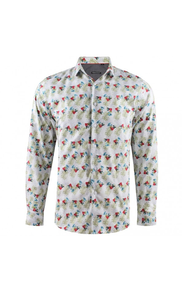 ABH Collection JÁVEA Camisa de hombre con flores calavera