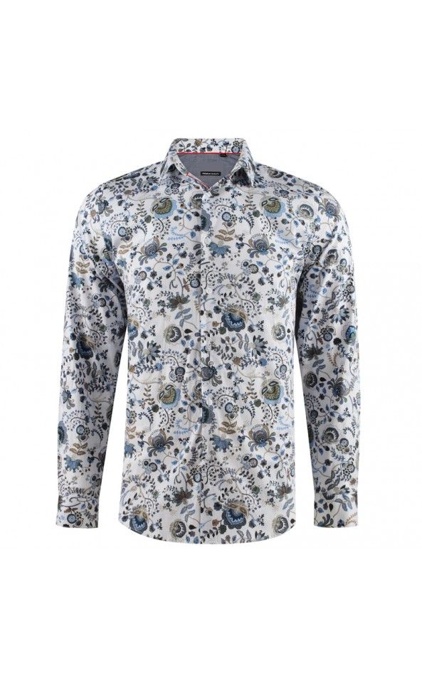 Camisa de hombre estampado flores de loto | ABH Collection JÁVEA