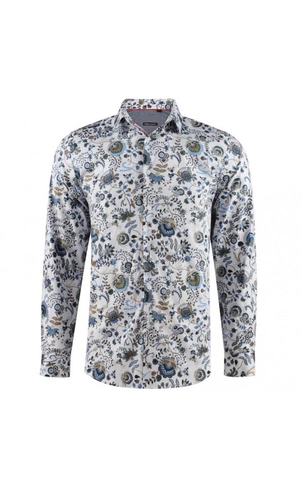 Men's lotus flower print shirt | ABH Collection JÁVEA