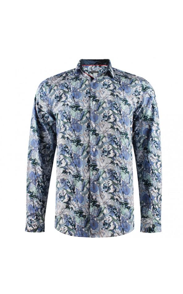 Water lily print men's shirt | ABH Collection JÁVEA