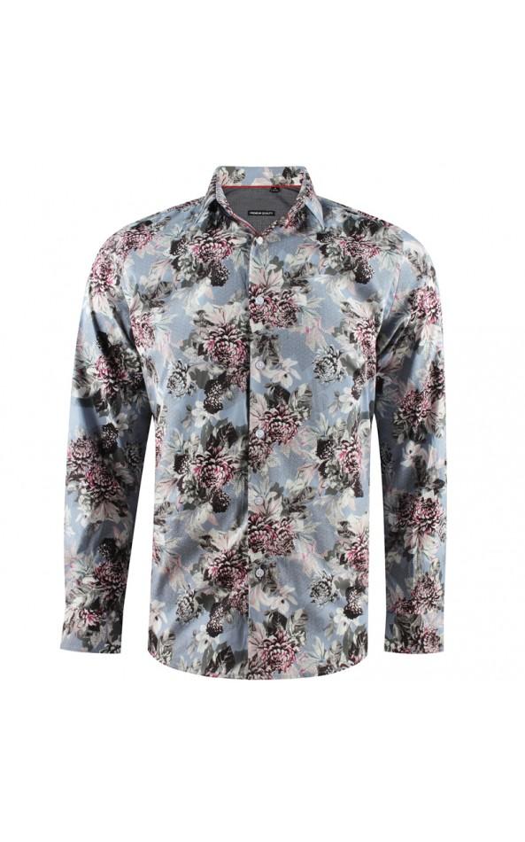 Bouquet of flowers print men's shirt | ABH Collection JÁVEA