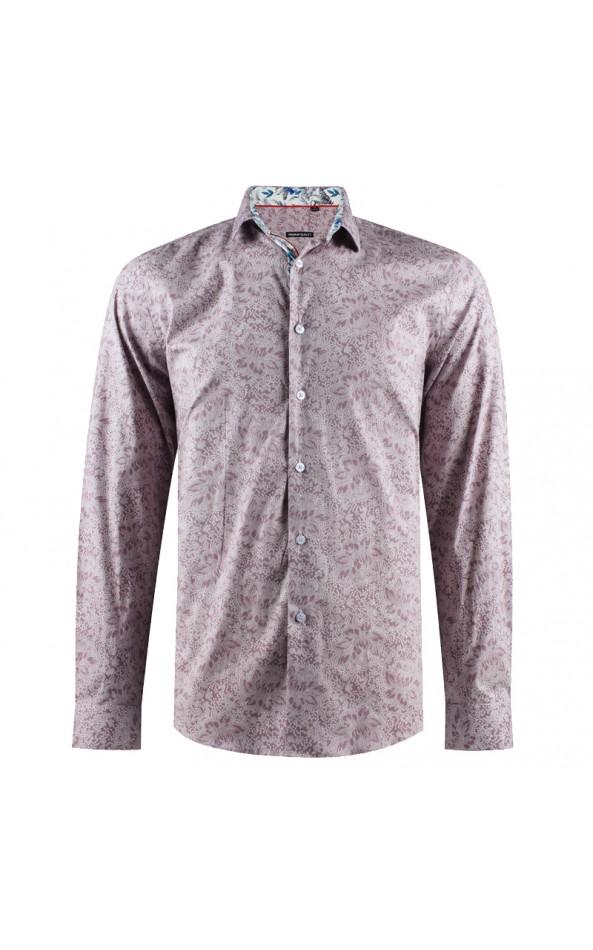 Flower print pink men's shirt | ABH Collection JÁVEA